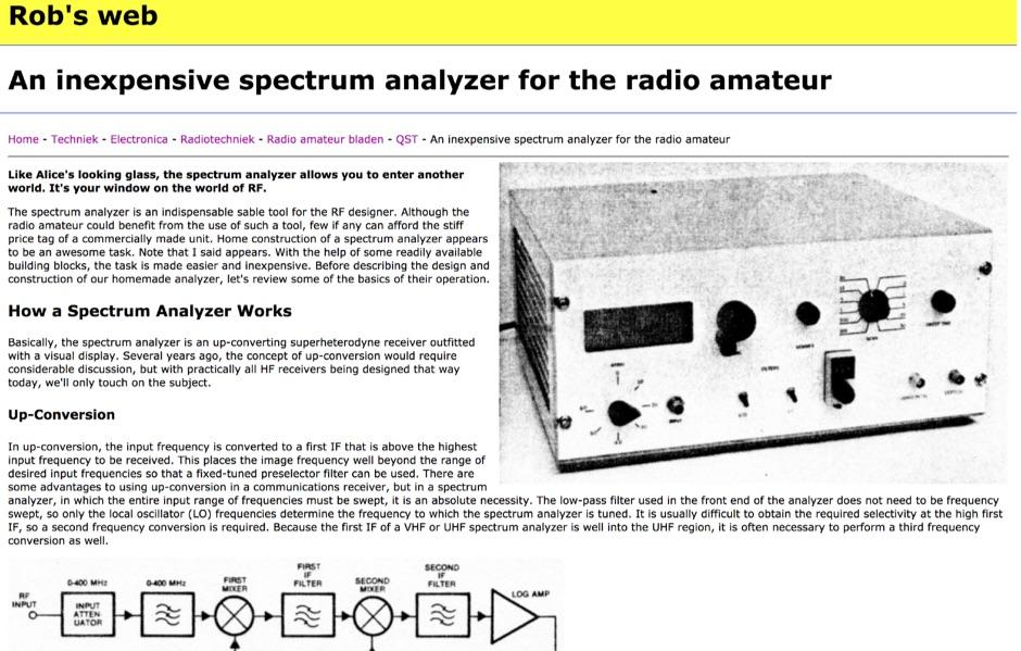 DXZone Homemade spectrum analyzer