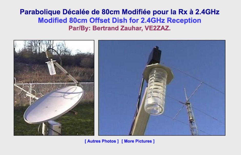 Dish Antenna for 2.4 GHz Satellite Reception
