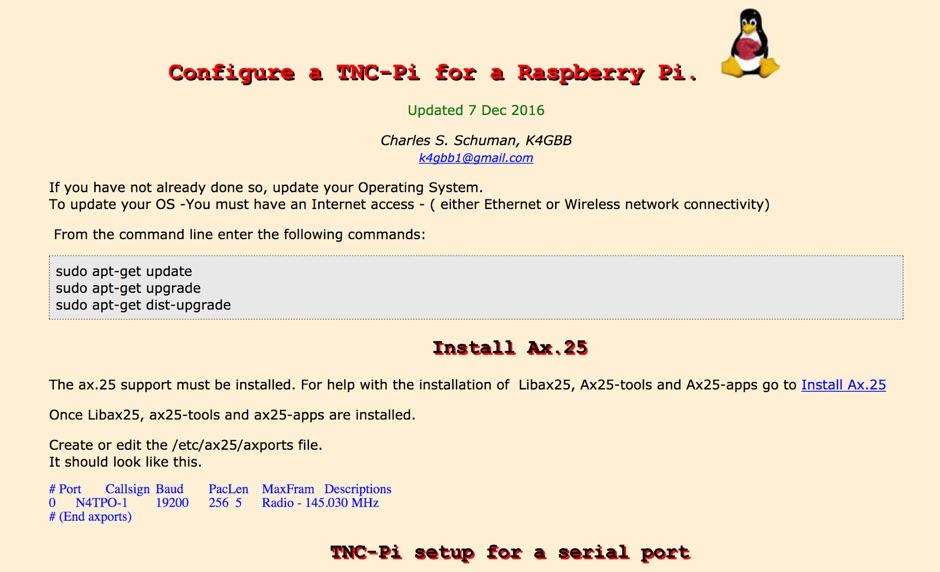 Raspberry Pi - TNC-Pi