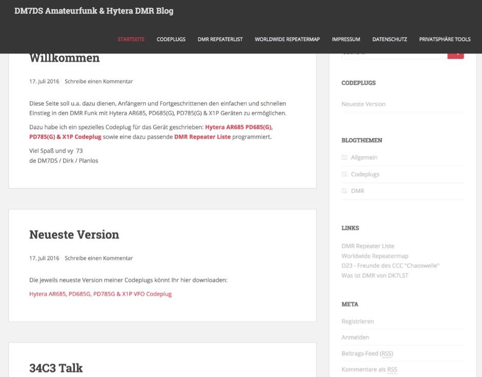 DM7DS Amateurfunk & Hytera DMR Blog - VFO Codeplug for Hytera radios