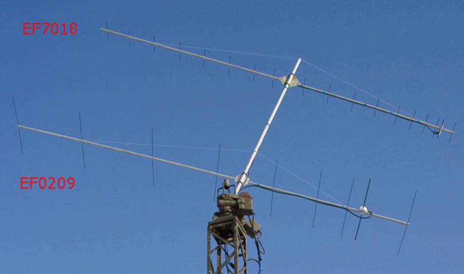 EF7018 - UHF 18 Elements Yagi Antenna Plan