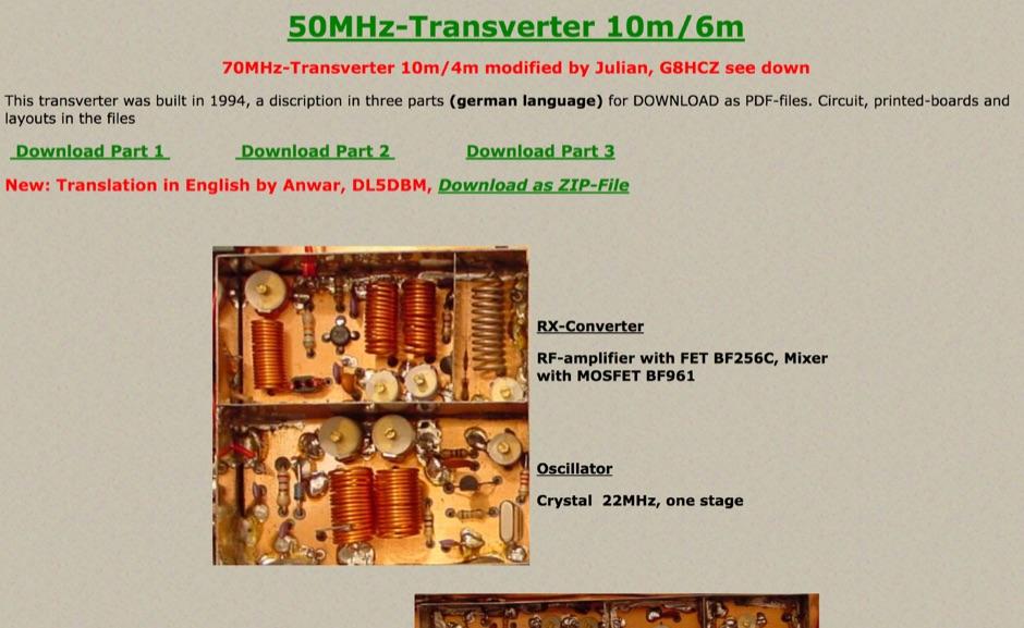 50 MHz and 28 MHz transverter