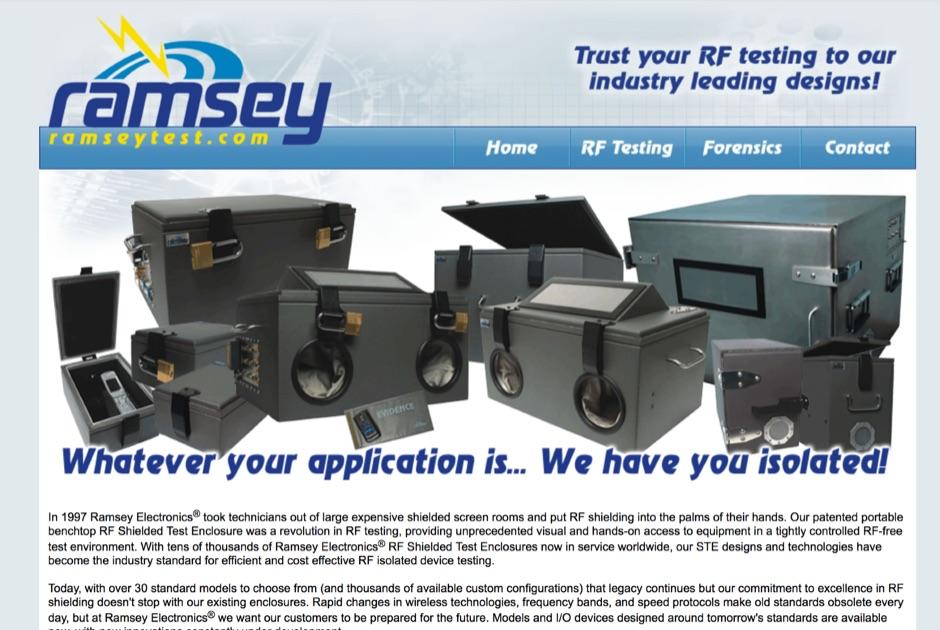 DXZone Ramsey - RF Test Enclosures