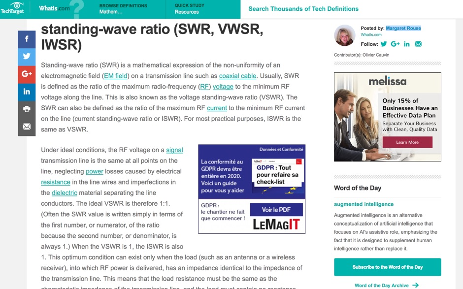 What is SWR - standing-wave ratio