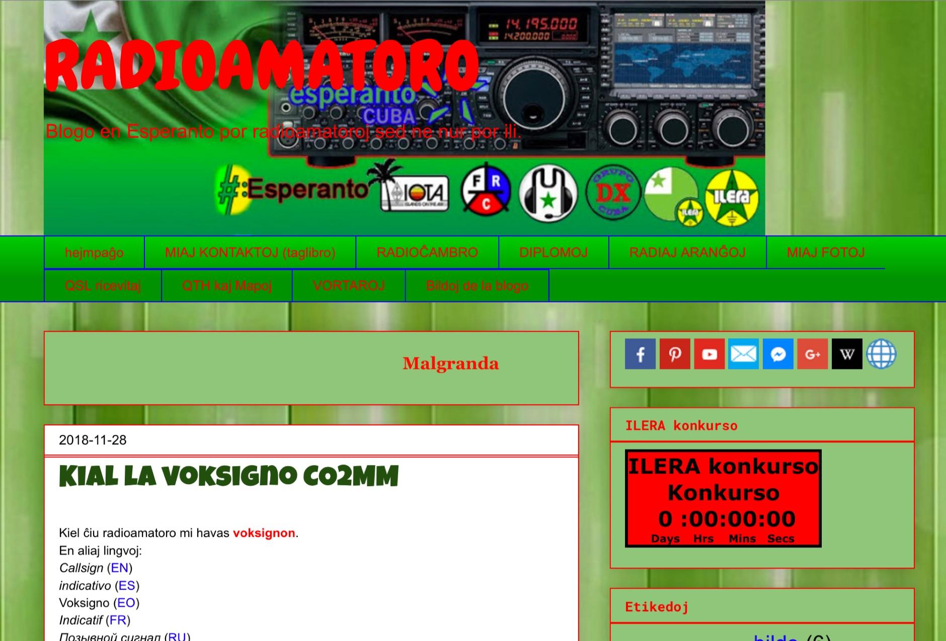 RADIOAMATORO blog en ESPERANTO