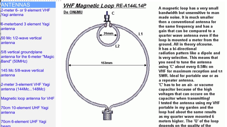 DXZone Magnetic Loop antenna for VHF