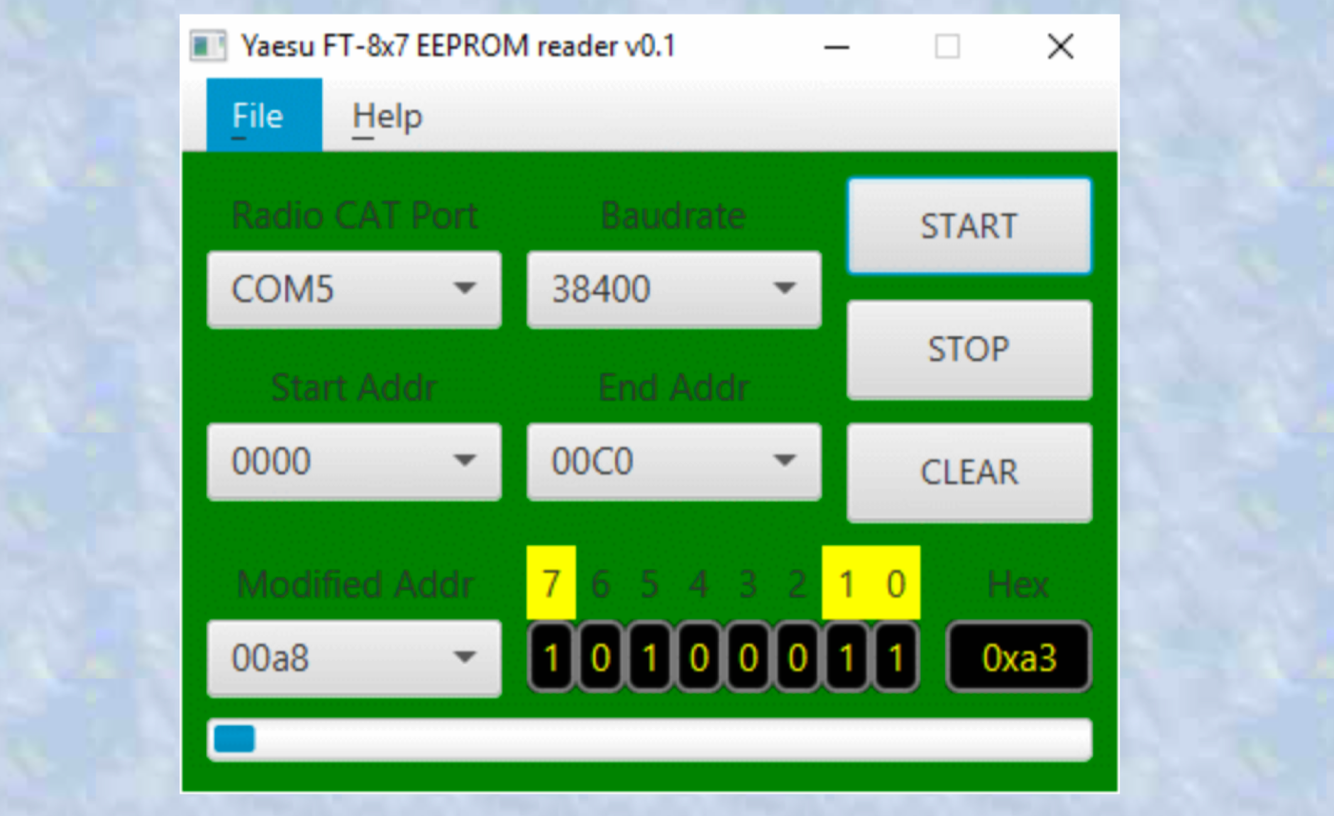 DXZone Yaesu FT-817 FT-857 FT-897 EEPROM analyzer