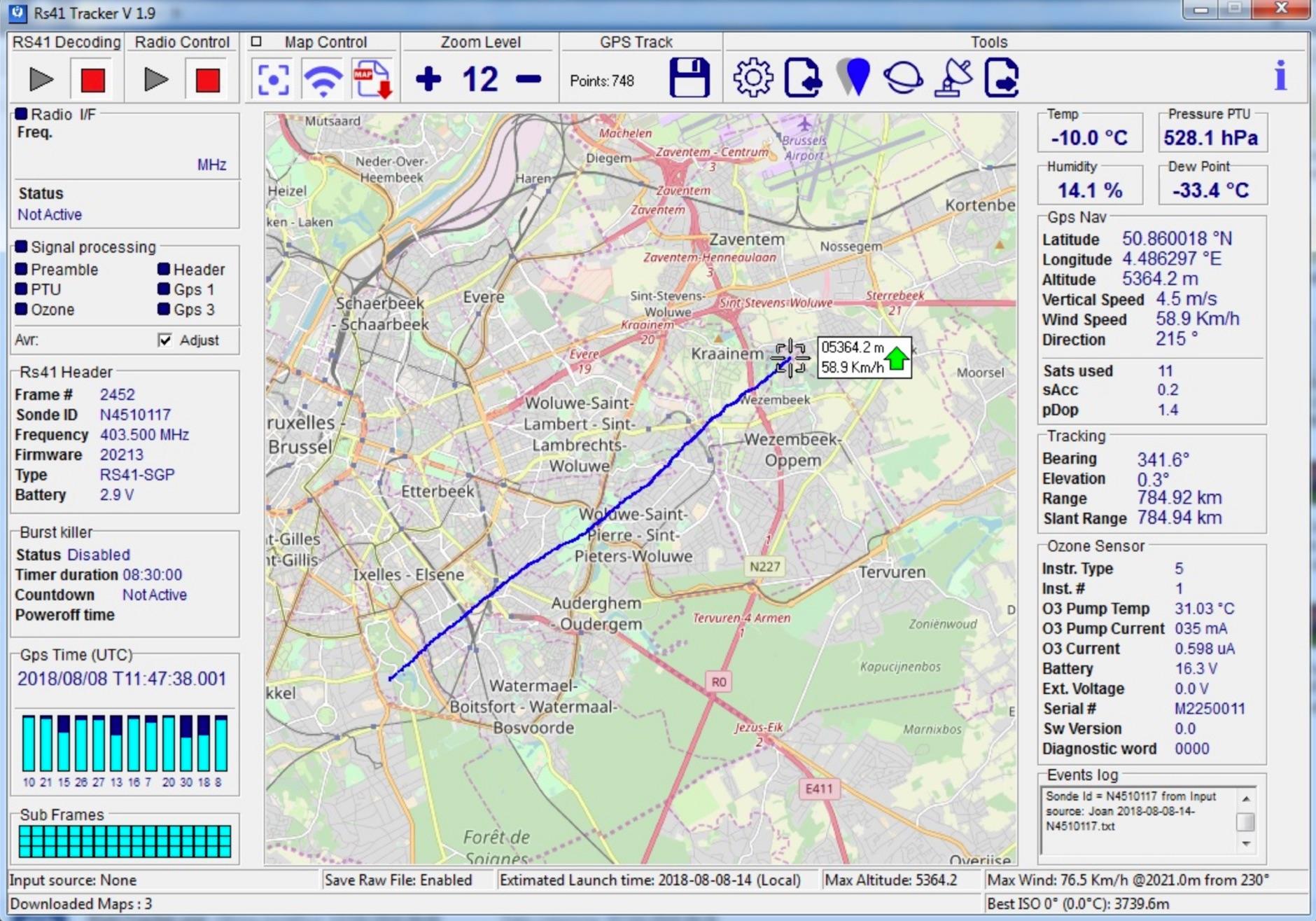 DXZone RS41 Radiosondes Tracker
