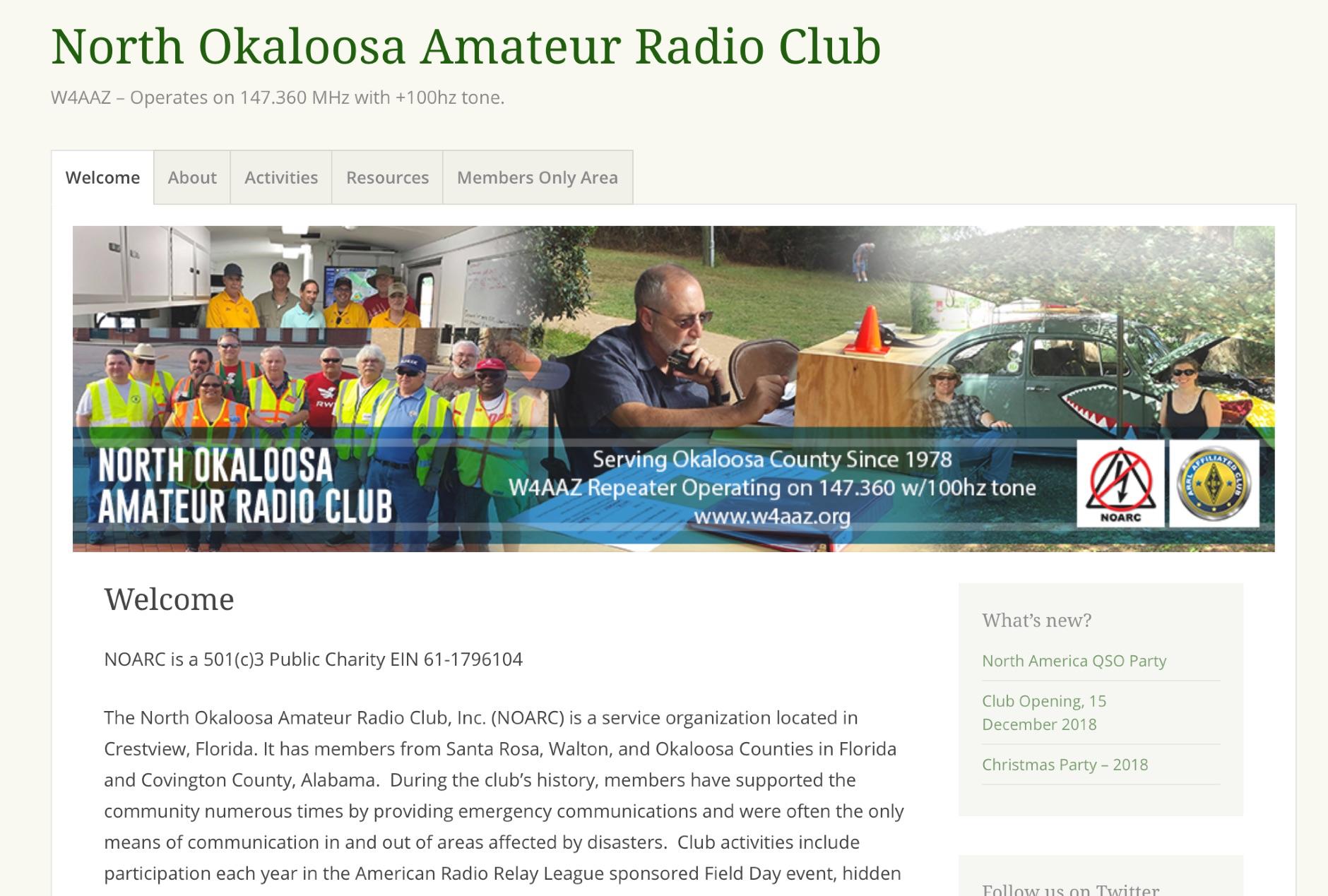 North Okaloosa Amateur Radio Club
