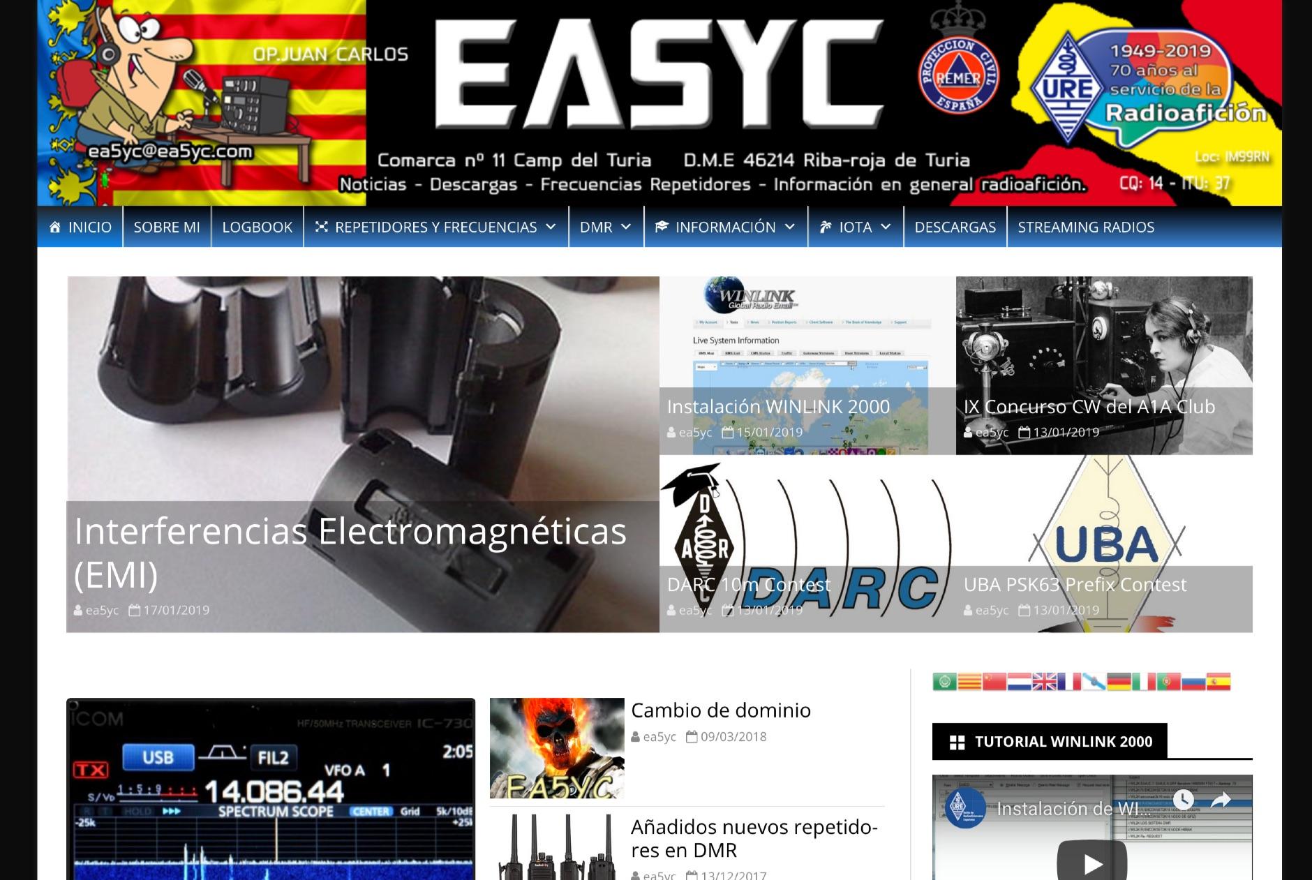 EA5YC Amateur Radio Web Site