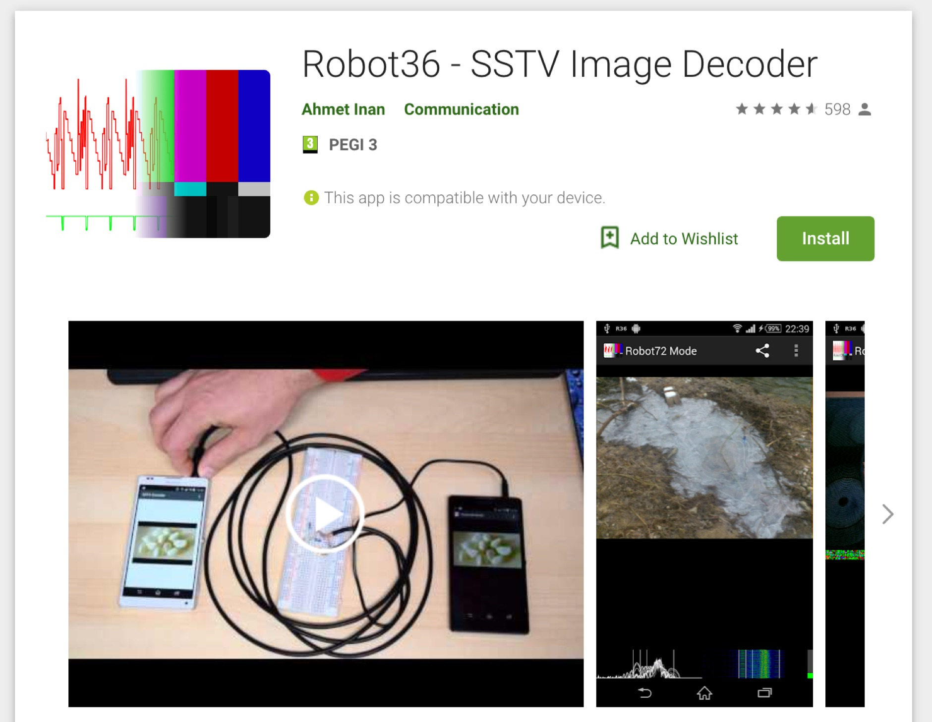 DXZone Robot36 SSTV Decoder for Android