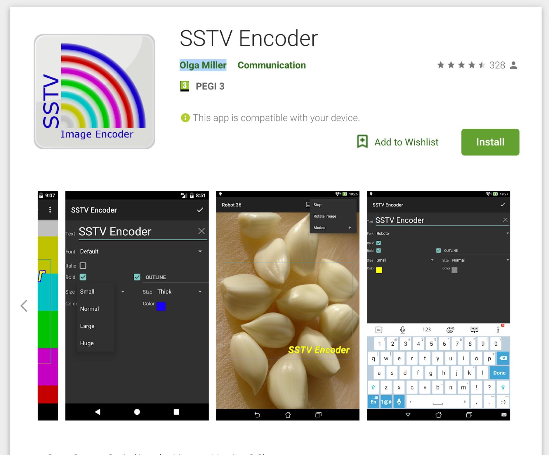 SSTV Encoder for Android