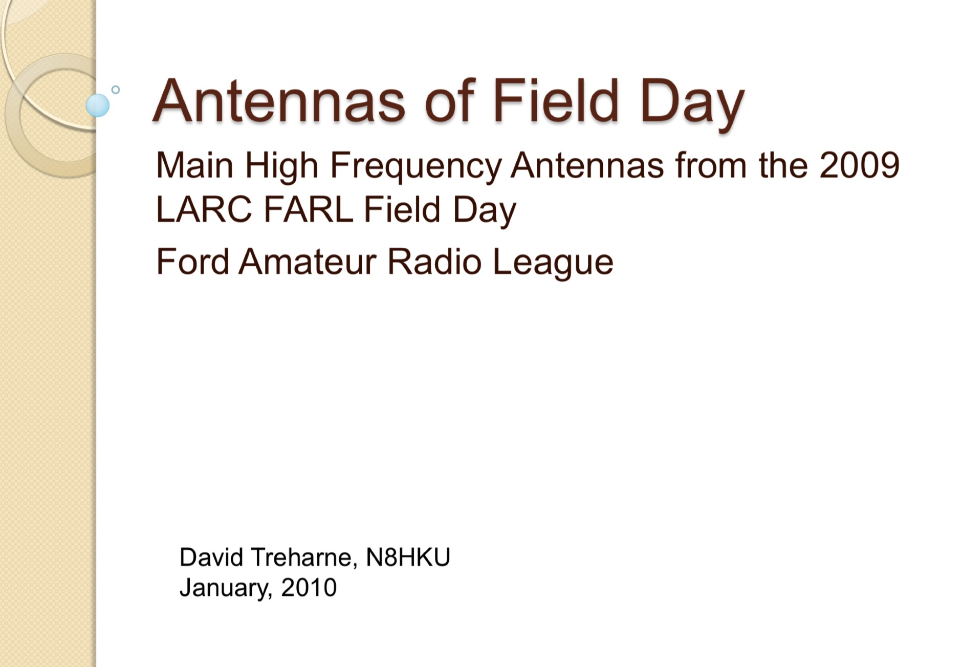 Antennas of Field Day