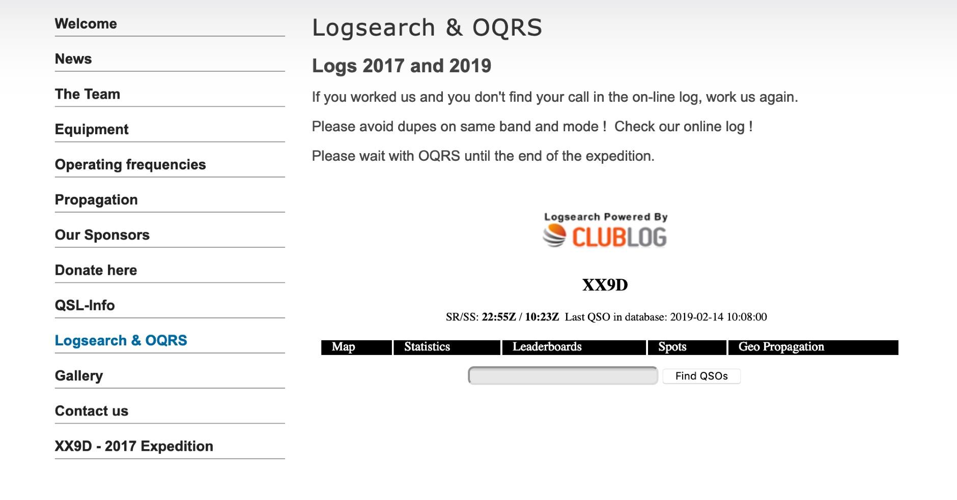 XX9D Log Online