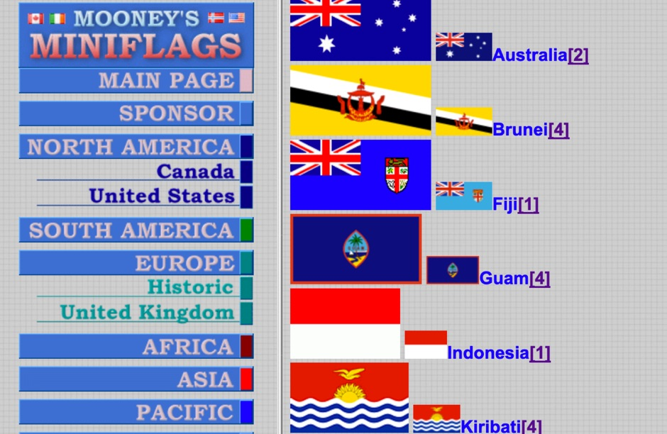Flag Database - Miniflags by Mooney