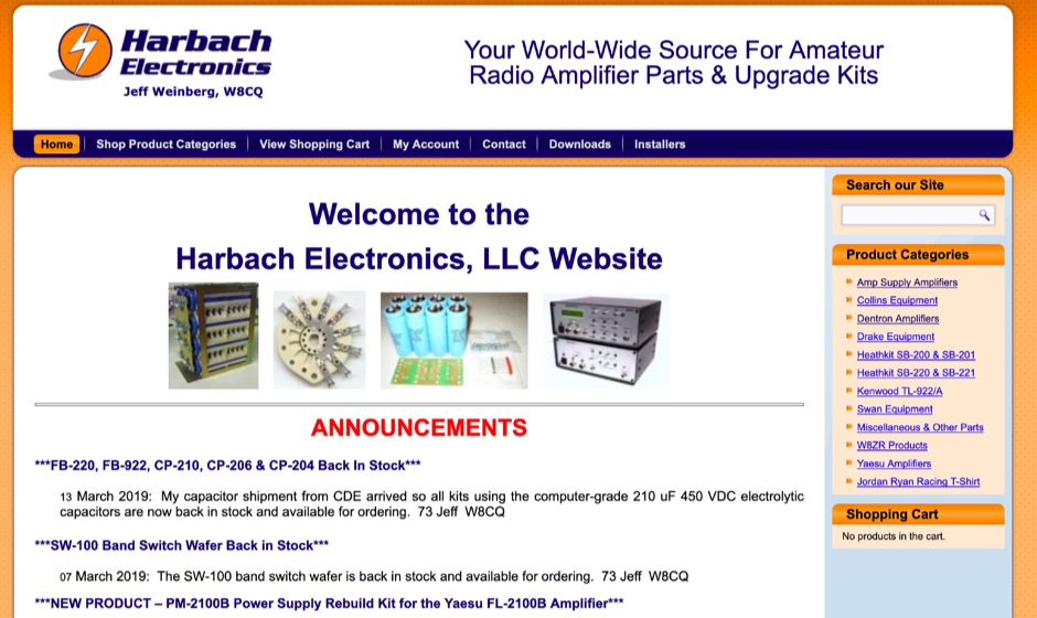 Harbach Electronics - Amateur Radio Amplifier Parts
