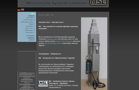 MSL - Mechanical Systems Lehmann - Telescopic Masts and Towers