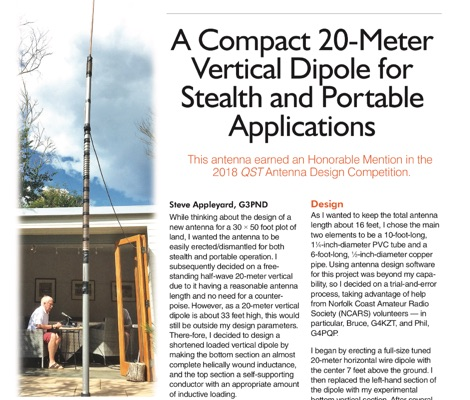 Vertical Dipole Antenna for 14 MHz by G3PND