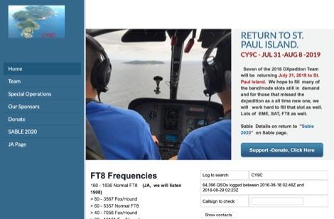DXZone CY9C St Paul Island DX Pedition