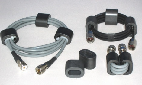 Cost-effective ferrite chokes and baluns