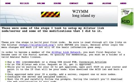 Allstar Link node server - how to setup