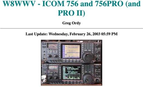 ICOM 756 and 756PRO