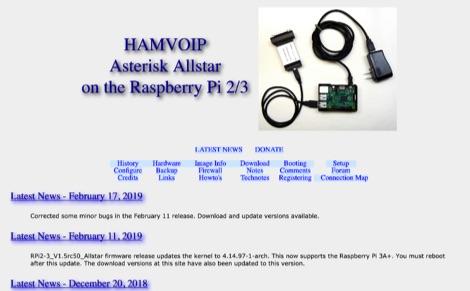 HamVoip - Asterisk Allstar on the Raspberry Pi