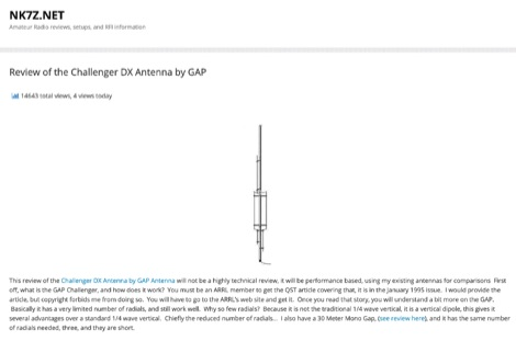 Challenger DX Antenna Review by NK7Z