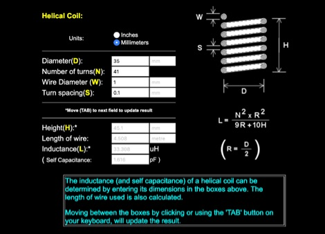 Online Helical Coil Calculator
