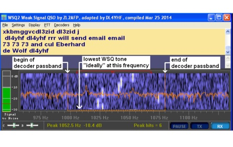 WSQCall A Weak Signal QSO mode for LF/MF