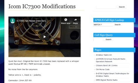 Icom IC7300 Modifications by M0FOX