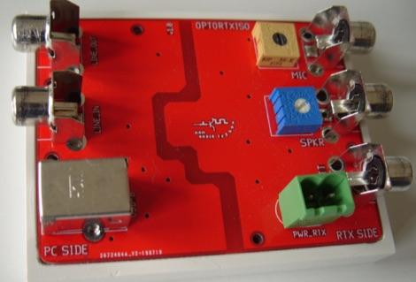 DXZone Optocoupled Transceiver-PC Audio Isolator project