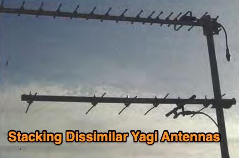 How to stack dissimilar yagi antennas