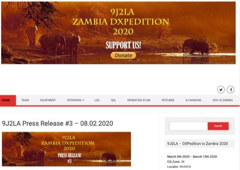 DXZone 9J2LA Zambia 2020