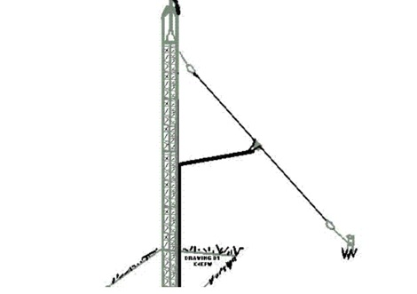 DXZone A 30 Meter Sloping Dipole Antenna