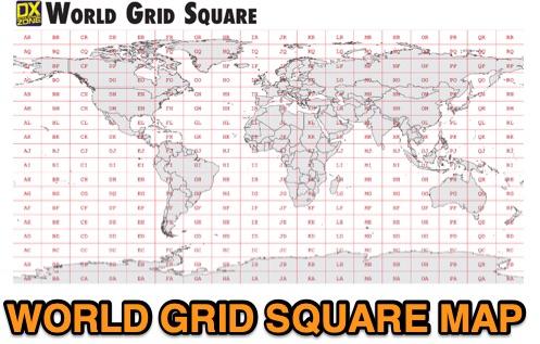 DXZone World Grid Square Map PDF