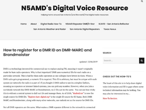 DXZone How to register for a DMR ID