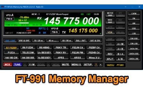DXZone Yaesu FT-991 Memory Manager