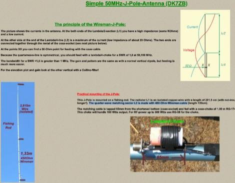 DXZone J-Pole Antenna for 50 MHz