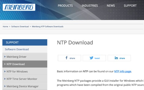 DXZone Meinberg NTP for Windows