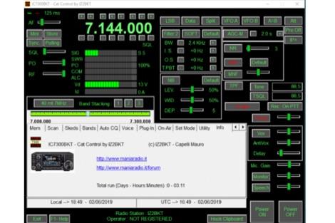DXZone IC7300BKT Icom IC-7300 CAT Control