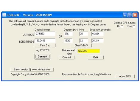 DXZone GridLocW Locator converter