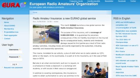 DXZone EURAO Radio Amateur Insurance