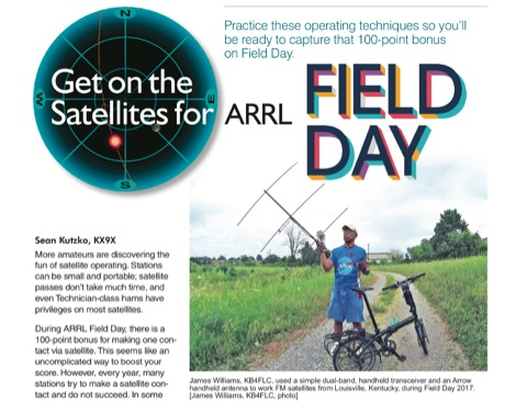 DXZone Get on the Satellites for ARRL Field Day