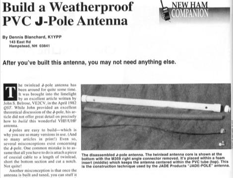 DXZone Build a Weatherproof PVC JPole Antenna