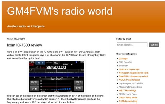 DXZone Icom IC-7300 review by GM4FVM