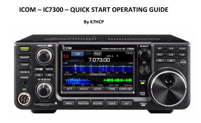 IC-7300 Quick Start Guide