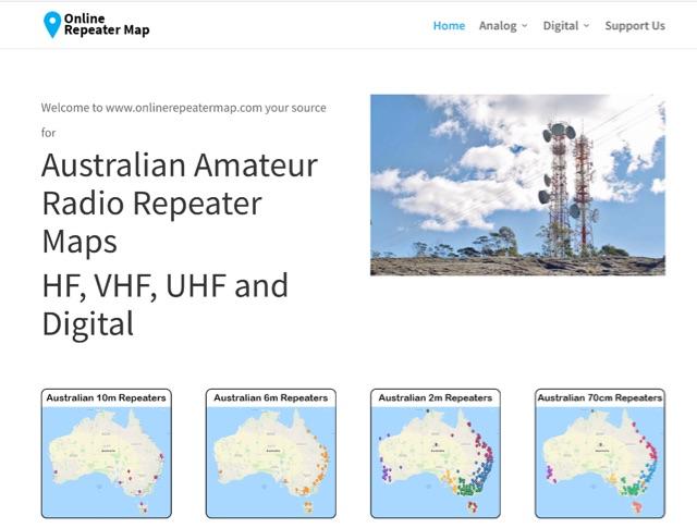 DXZone Online Australian Repeater Maps