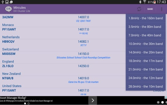 DXZone Mircules DX Cluster LITE for Android
