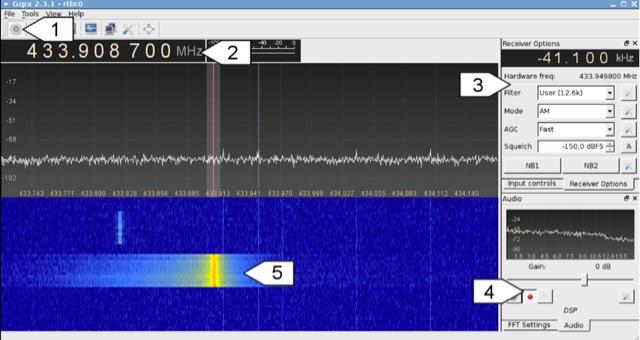 DXZone Decoding 433 MHz radio signals